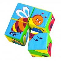 Кубики «Собери картинку» Насекомые
