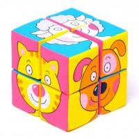Кубики «Собери картинку» Зверята
